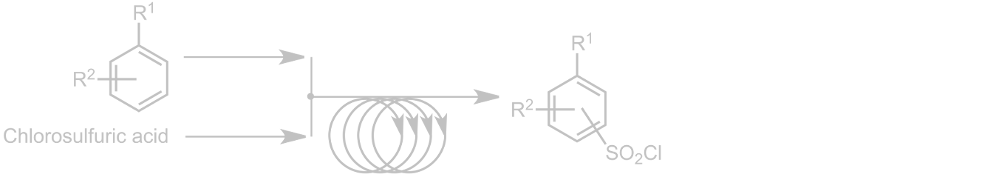 Continuous (or Batch)  Chlorosulfonation