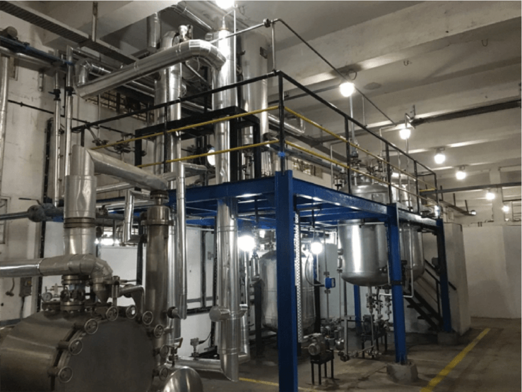 Production Site: Continuous Gas Phase Reaction Technology  Manufacturing Plant