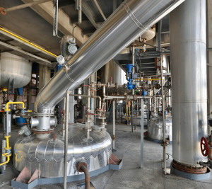 Production Site: Massive Reaction / Distillation Capacity (1 of 3)
