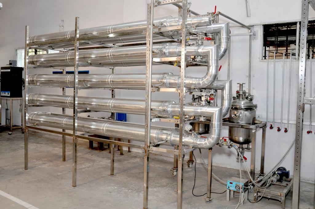 Plug Flow Reactor in Pilot Plant